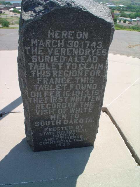 Verendrye Monument in Ft. Pierre