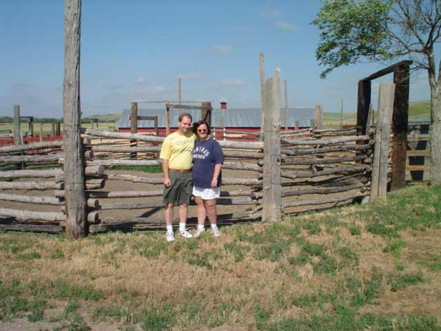 the corral at the Carslile ranch