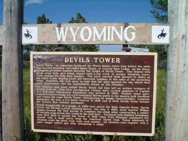 The history of Devil's Tower