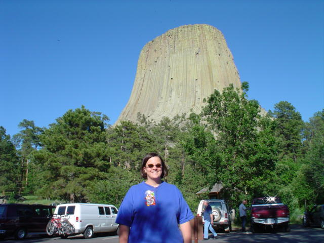Laura at Devil's Tower