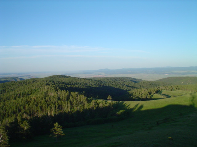 The view from the fire tower (el. 6500+ feet)