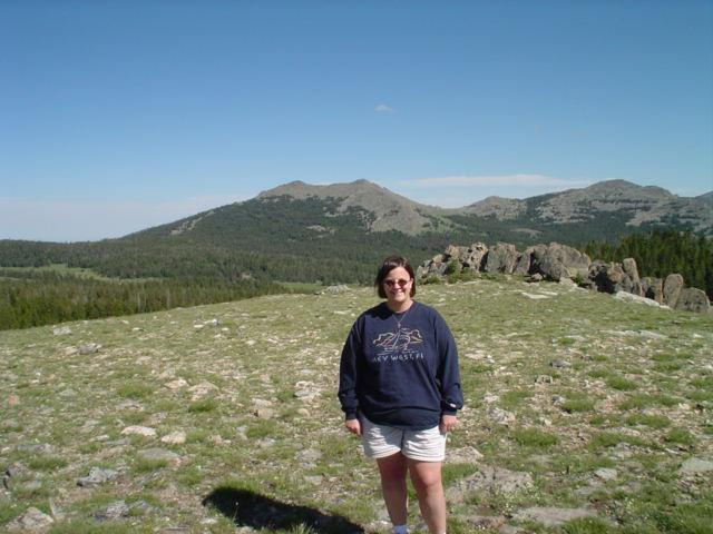 Laura at Powder River Pass