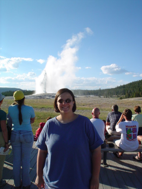 Laura and Old Faithful