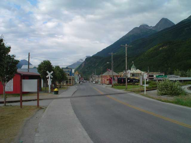 Downtown in Skagway, AK
