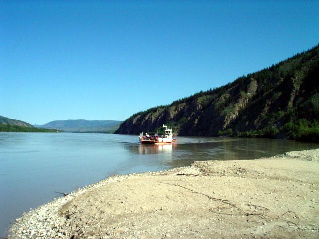 ferry across the Yukon River