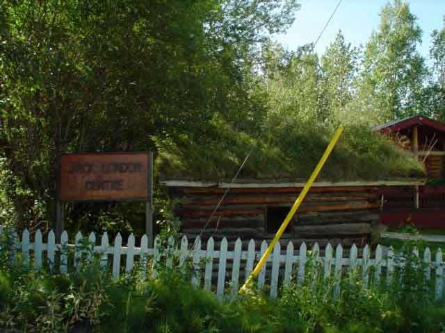 Jack London's cabin (replica) in Dawson