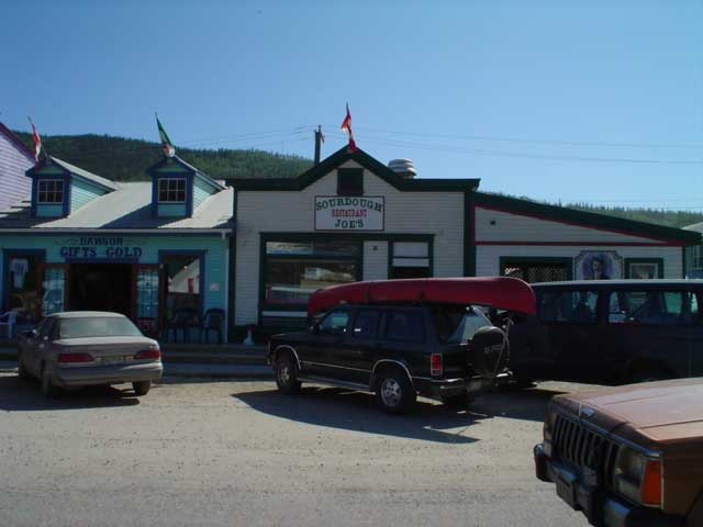downtown Dawson City
