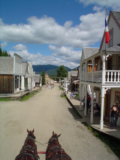 view of Barkerville from the stagecoach roof