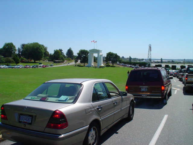 waiting in line at the border crossing