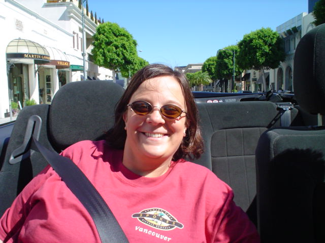 Laura enjoyed the ride in Beverly Hills.