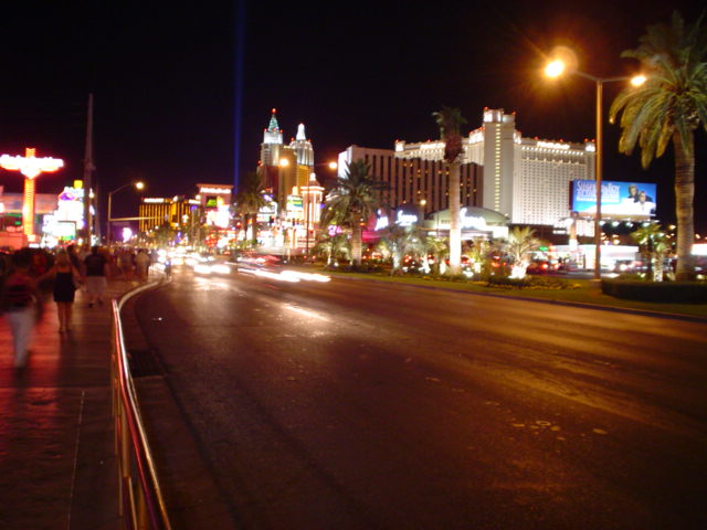 The Strip on a hot August night