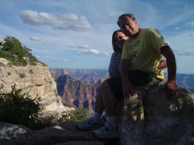 Joe and Laura at Bright Angel Point