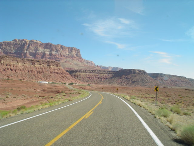 on the road to Page, AZ