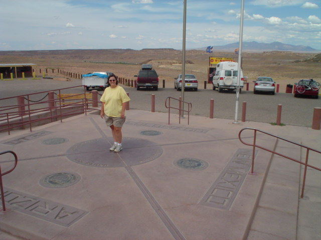 standing in four states at one time